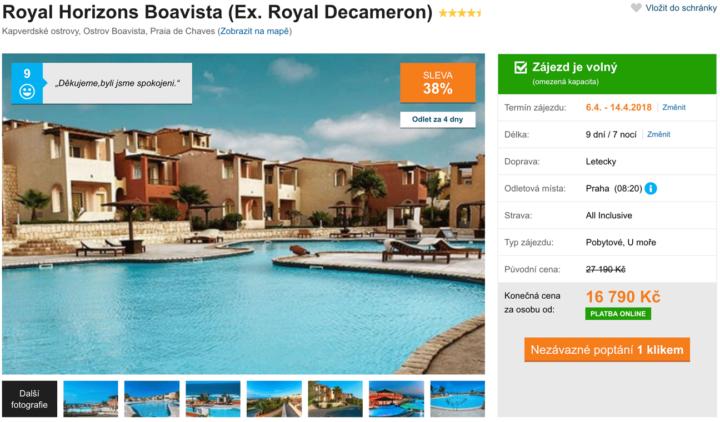 Akční zájezd do Royal Decameron na Boa Vista