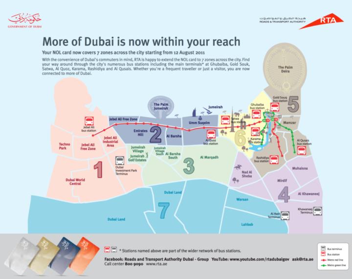 Tarifní zóny v Dubaji