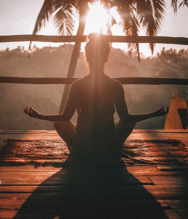 Jóga a meditování na Bali