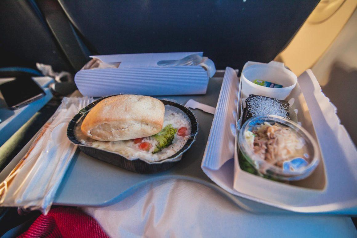 Jídlo během letu na Kapverdy